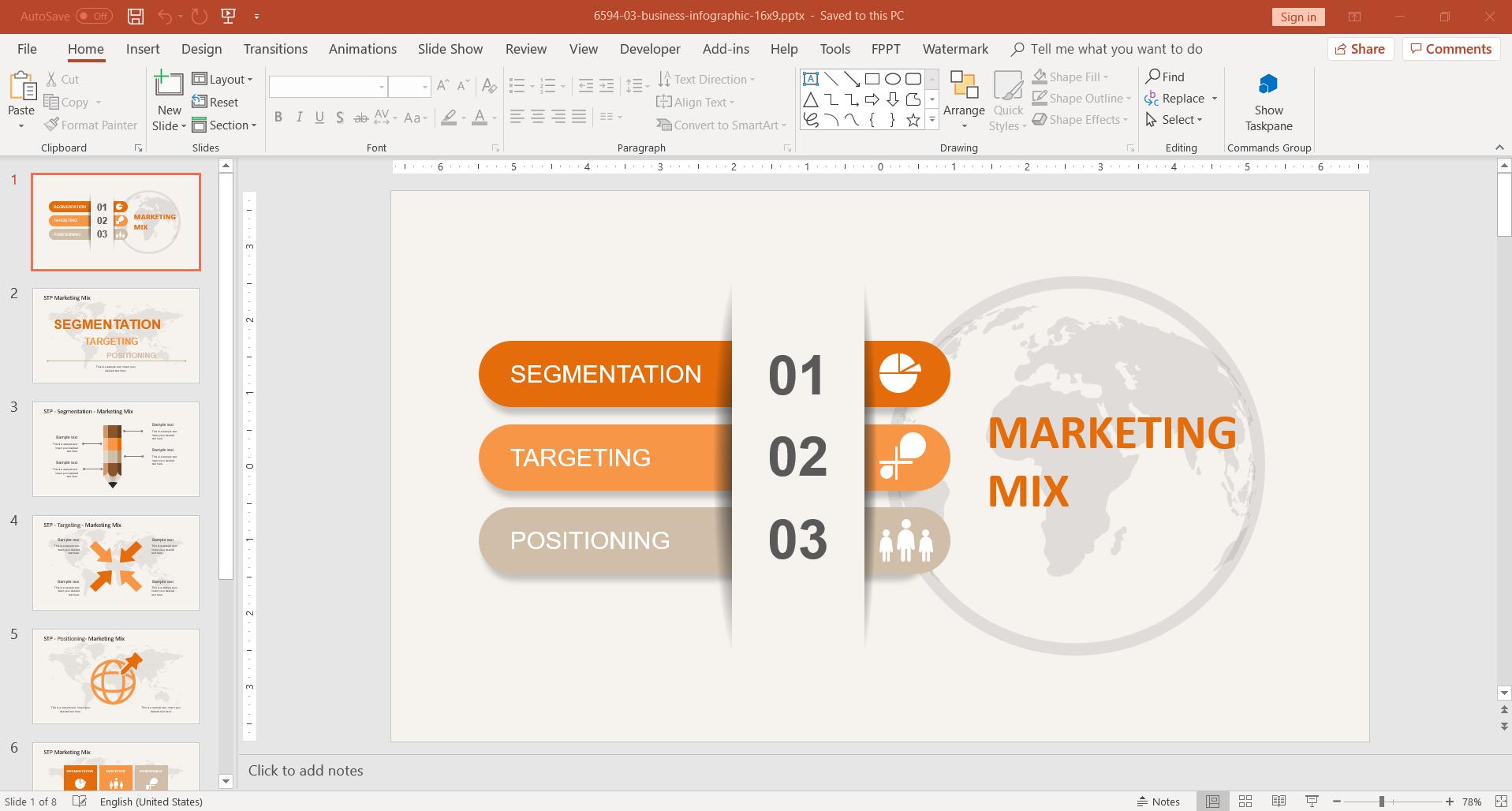 STP Marketing Mix PowerPoint Template