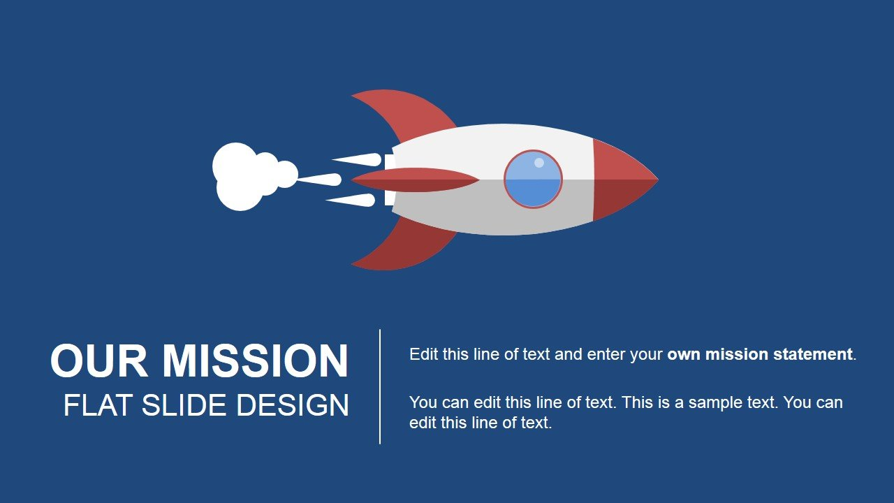 Space rocket PowerPoint template