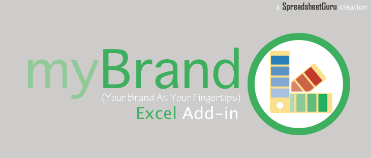 my Brand Excel Add-in