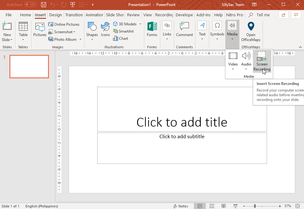 Capture Screen Using PowerPoint
