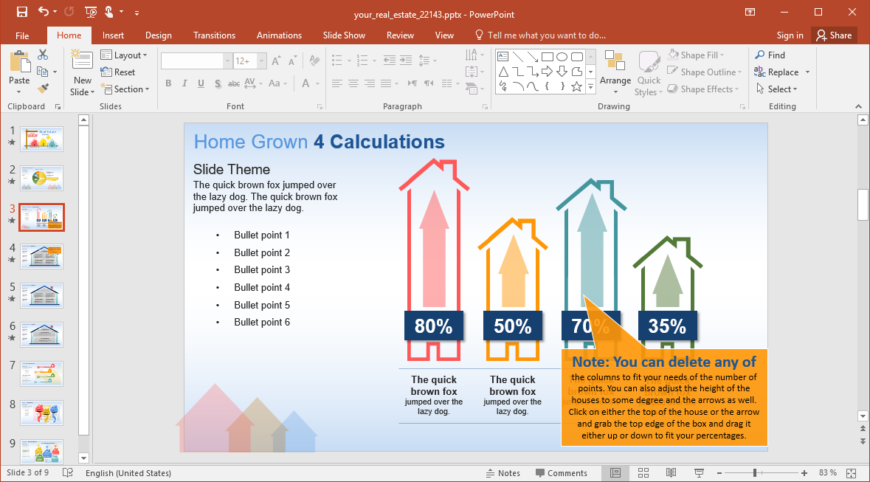 Housing Industry Slide Design