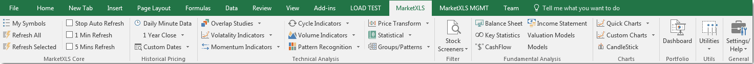 Stock Quotes Add-in for Excel