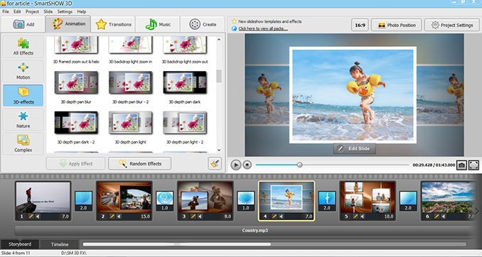 Smartshow video software animation tool