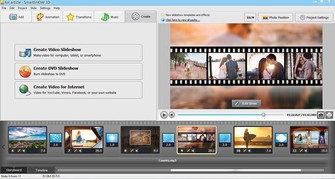Create a video with Smartshow