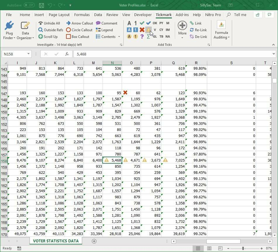 Add Tick Icons in Your Spreadsheet