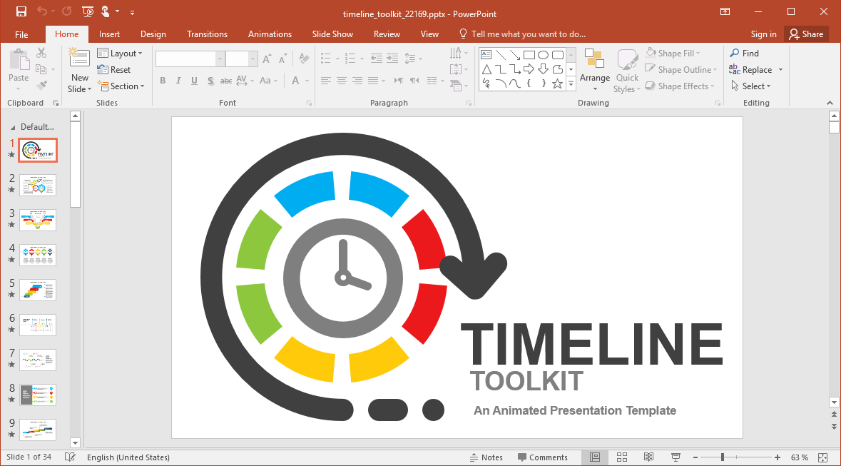 Complete Animated Timeline Toolkit for PowerPoint