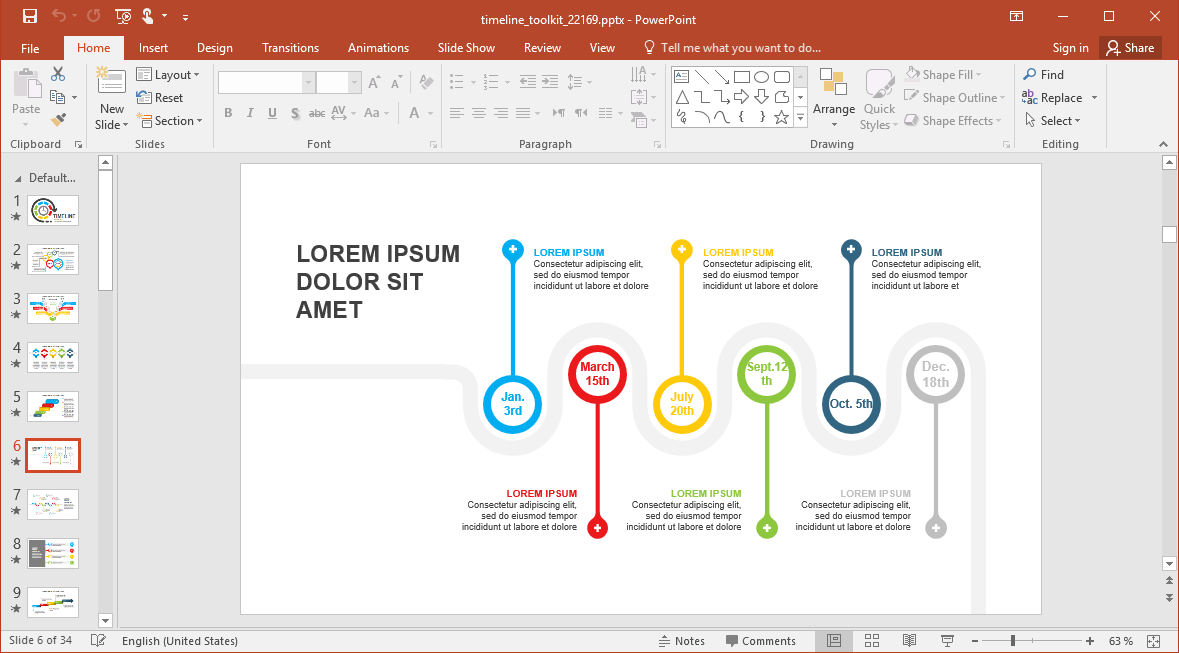 Tell PowerPoint Stories with Timelines