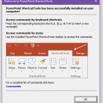 PowerPoint ShortcutTools Welcome Box