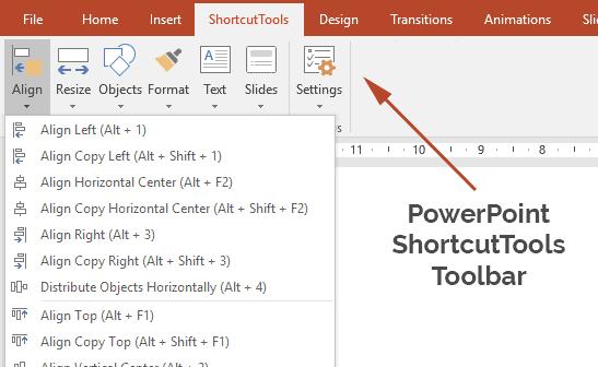 PowerPoint ShortcutTools