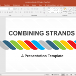 Animated Combining Strands PowerPoint Template