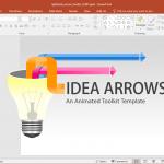 Animated Light Bulb Arrows PowerPoint Template