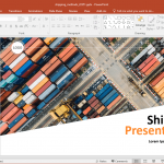 Animated Shipping Methods PowerPoint Template