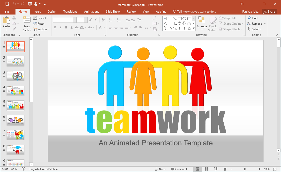 Animated Teamwork PowerPoint Template