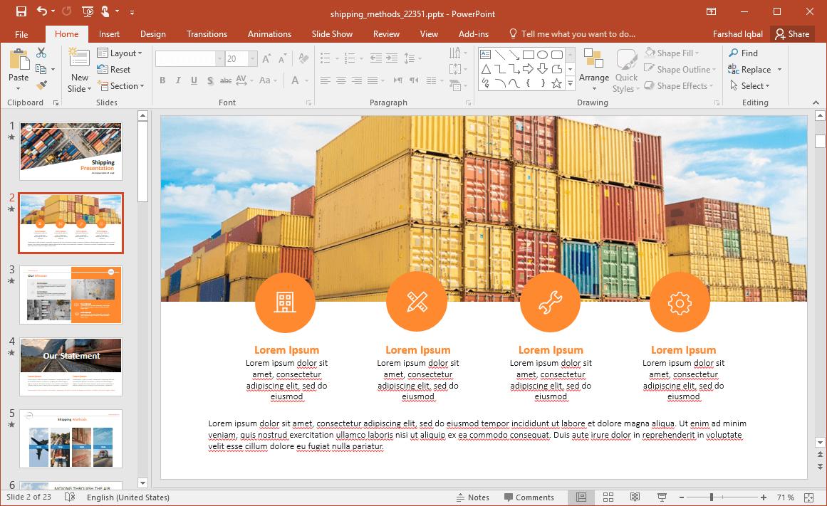Shipping Slide