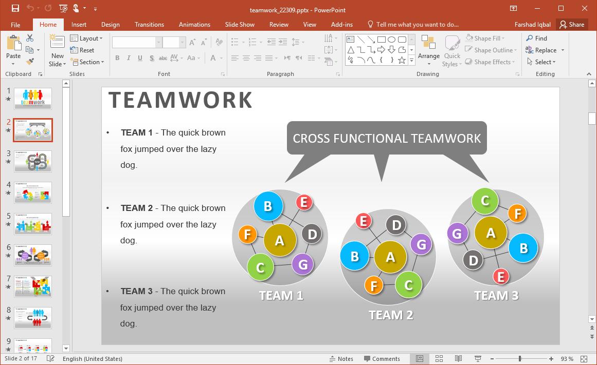 Teamwork Slide Design