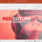 Animated Red Future PowerPoint Template