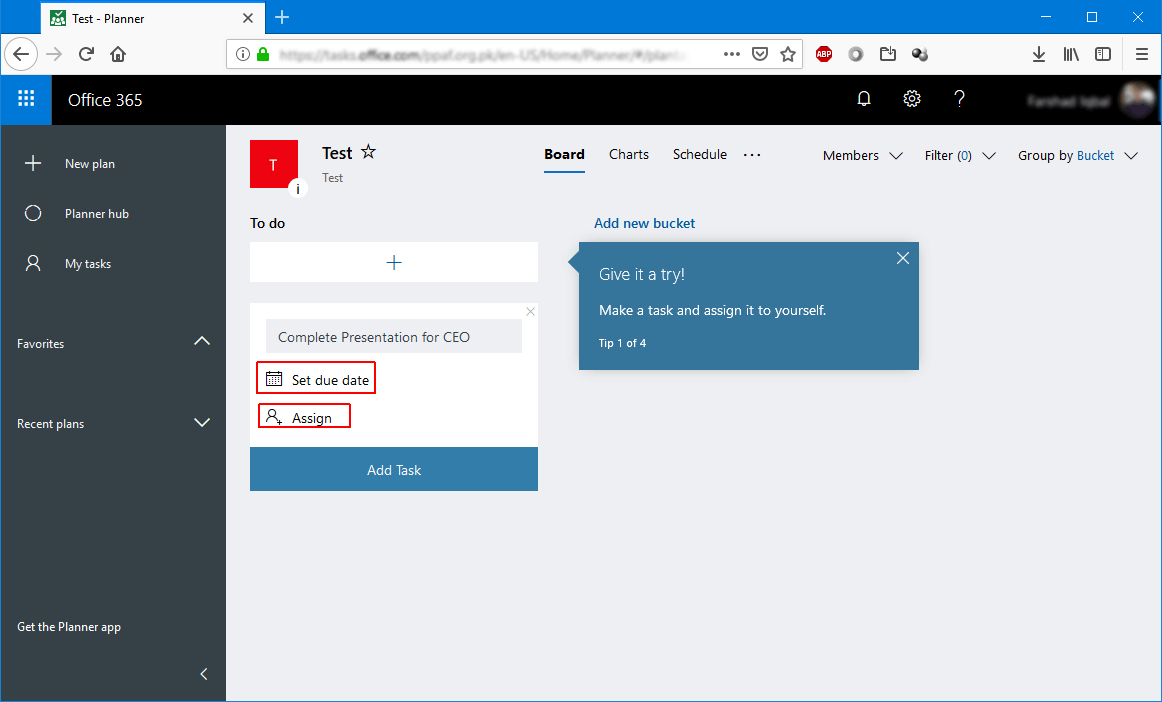 Assign Tasks with Due Dates