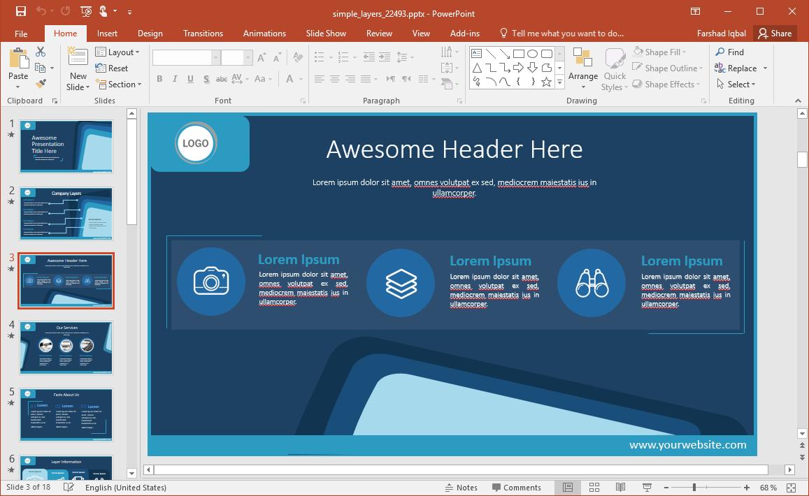 Header Slide Design