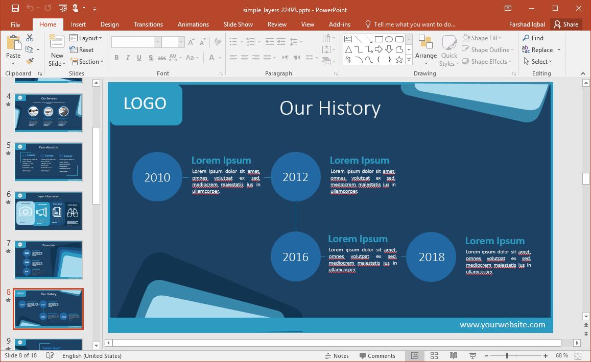 Layered History