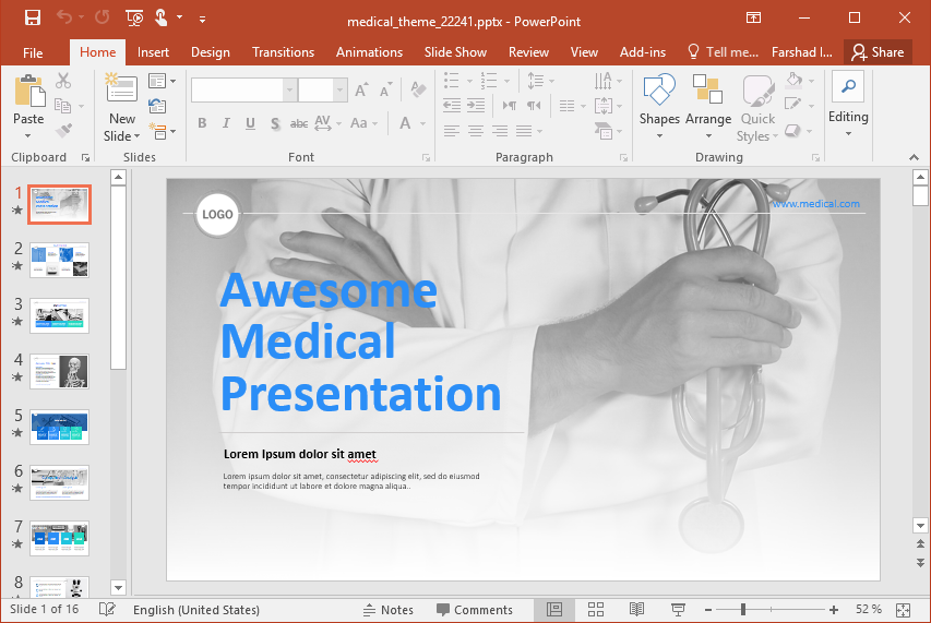 Animated Medical Presentation PowerPoint Template