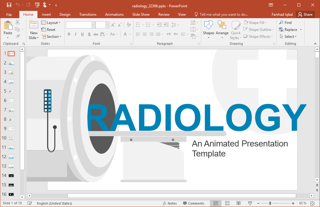 Animated Radiology PowerPoint Template