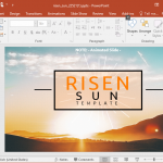 Animated Risen Sun Powerpoint Template