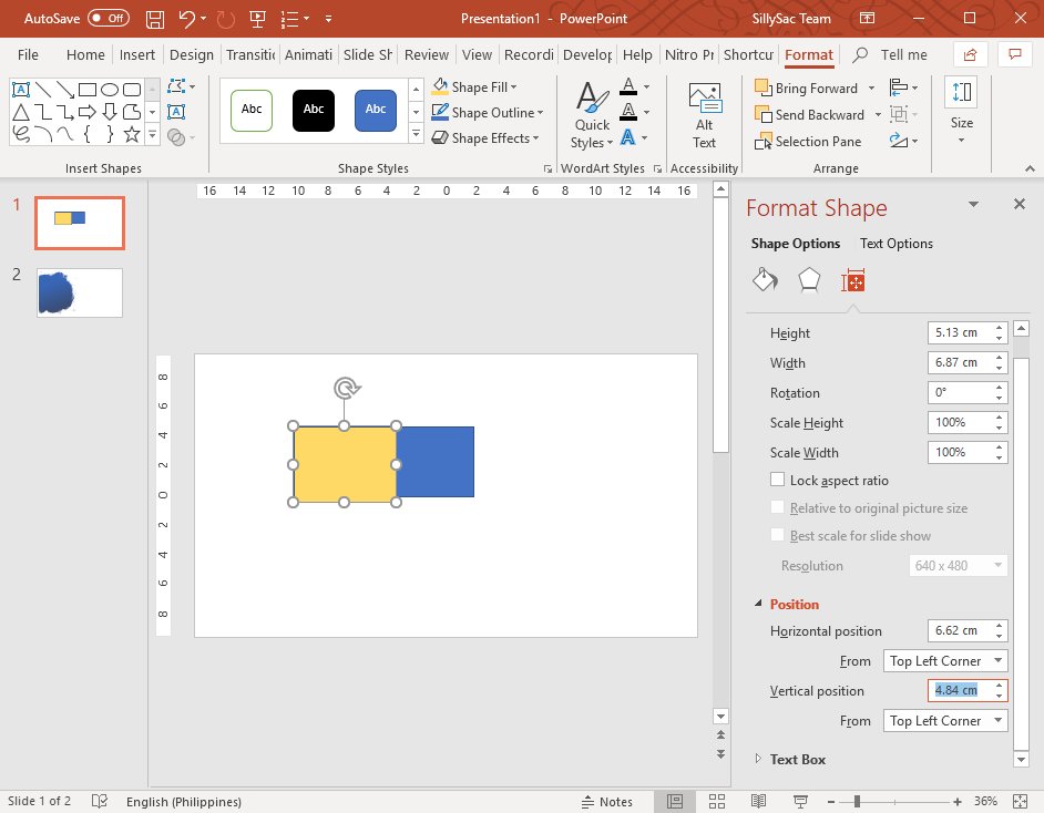 Copy Exact Position of PowerPoint Objects