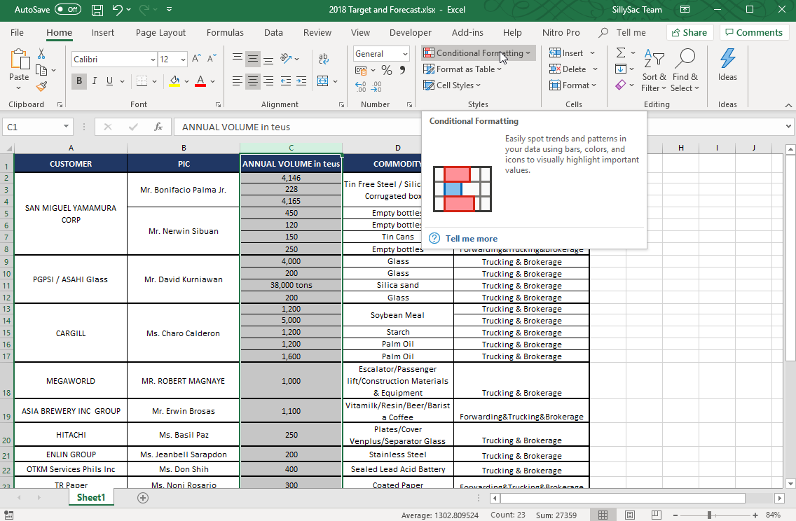 Apply Conditional Formatting