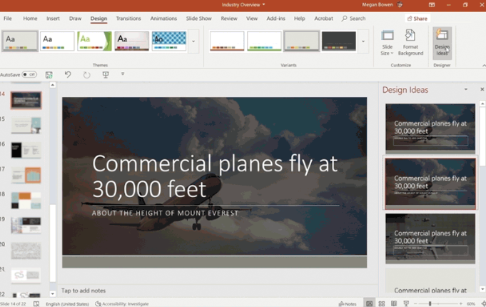 PowerPoint Designer with AI Capabilities