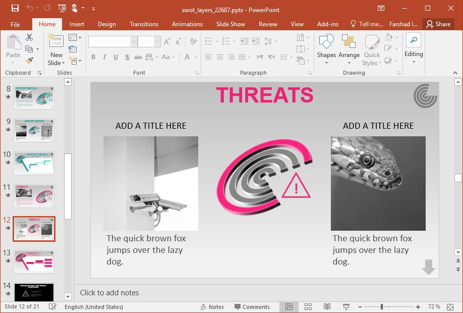Threats SWOT Analysis Diagram