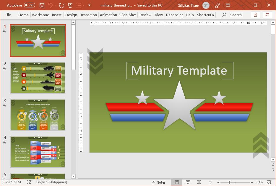 Premium Military PowerPoint Template