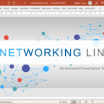 Premium Networking Lines PowerPoint Template