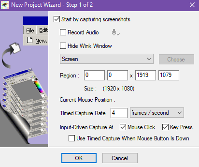 Start a New Tutorial Recording