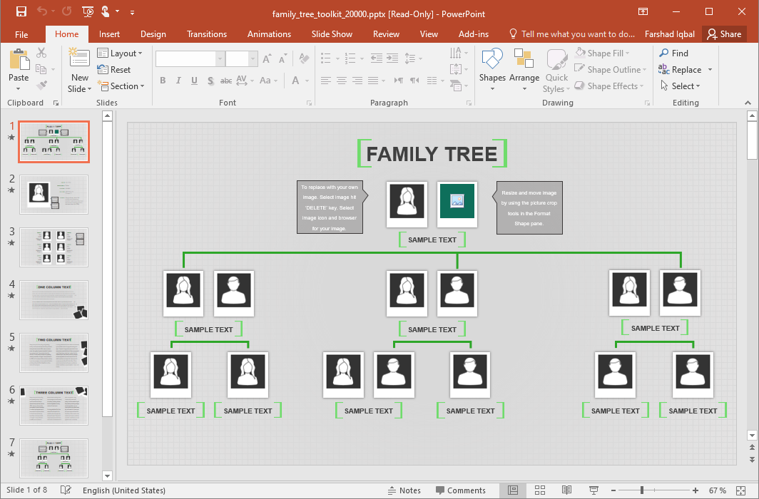 Animated Family Tree Template