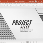 Animated Sleek PowerPoint Template