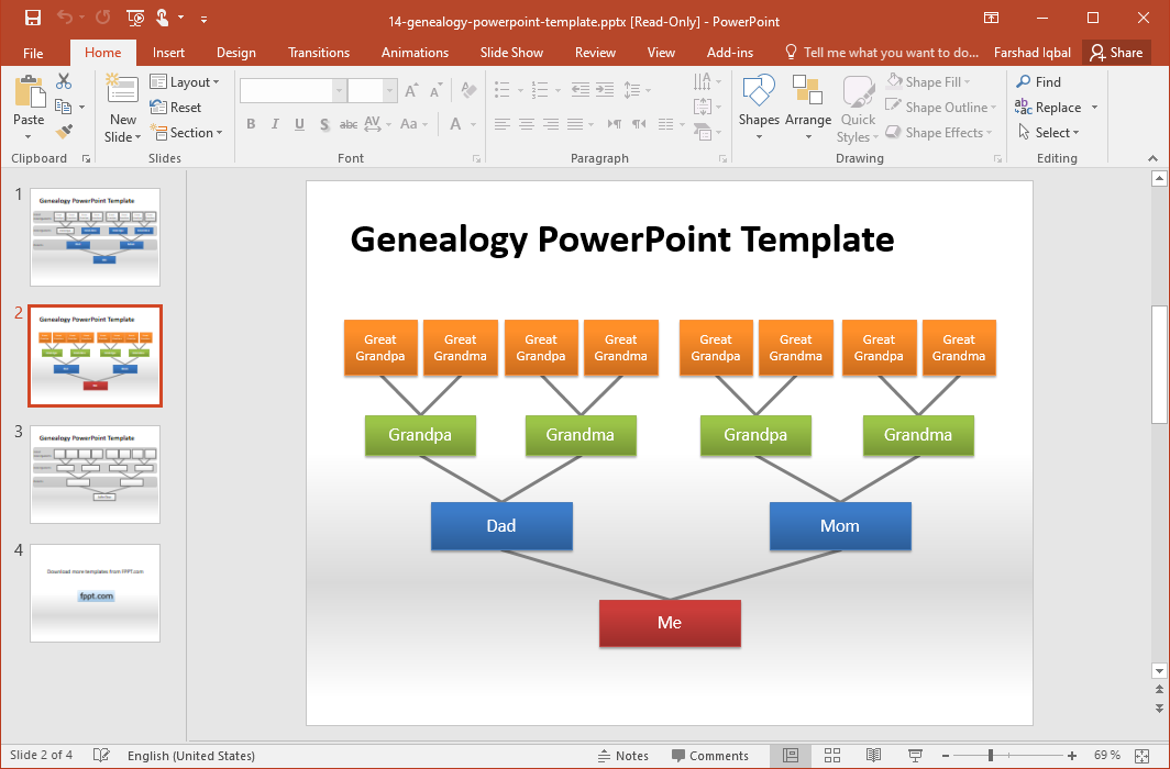 Free Genealogy PowerPoint Template