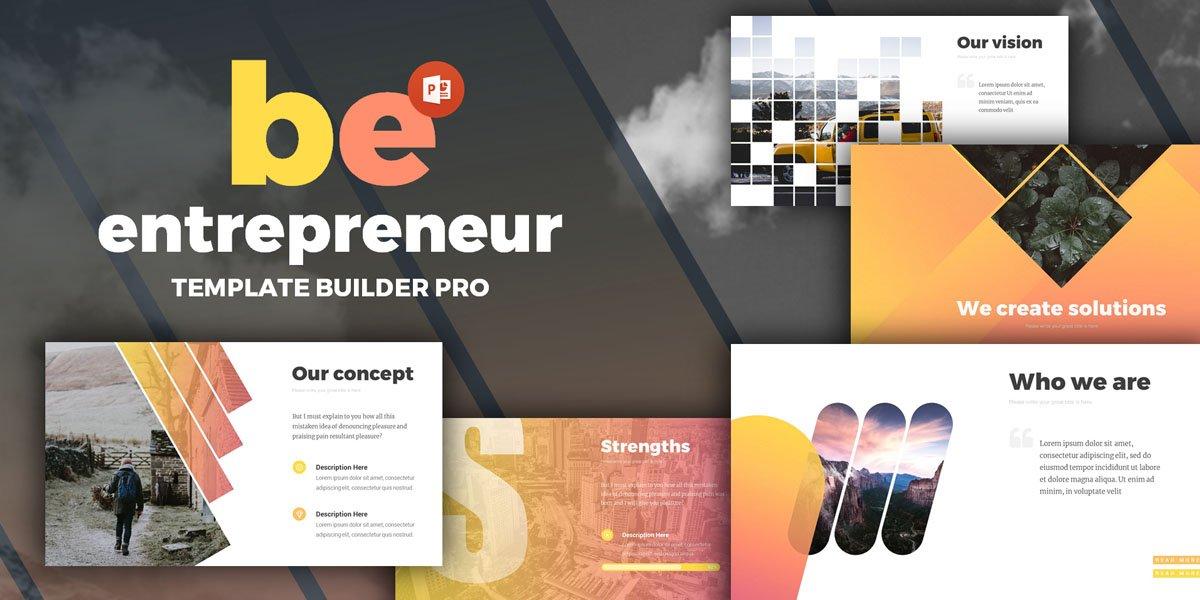 Entrepreneur PowerPoint template