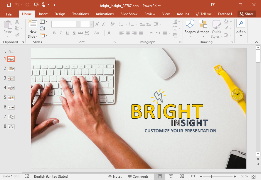 Animated Bright Insight Template for PowerPoint