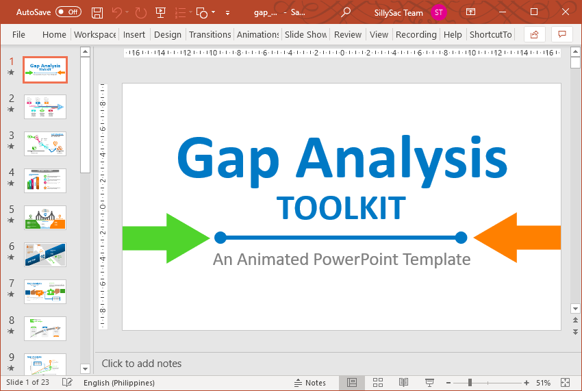 Animated Gap Analysis Toolkit for PowerPoint