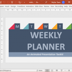 Animated Weekly Planner Template from PresenterMedia
