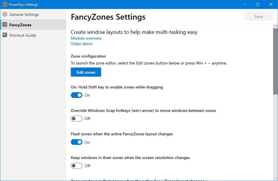 FancyZone Settings