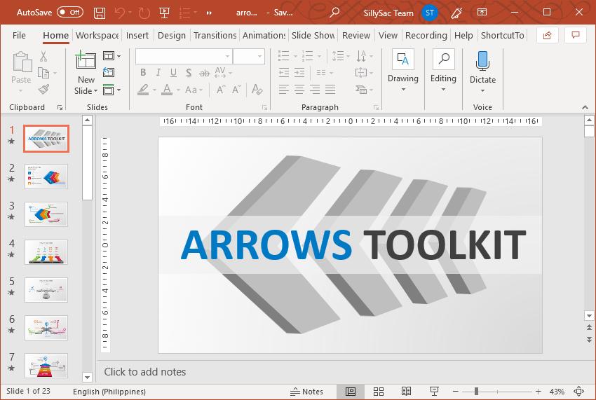 PowerPoint Arrow Toolkit