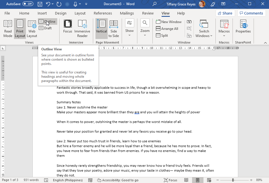 Create a PowerPoint Presentation from an Outline in Word