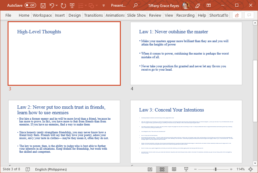 Find Your Outline Transformed into a Slideshow