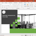 animated simple squares modern powerpoint template