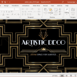 artistic deco powerpoint template