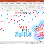 animated stars that smile powerpoint template