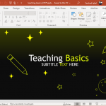 Animated Basic teaching PowerPoint template