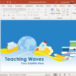 animated teaching waves powerpoint template