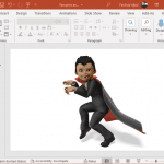 Sneaky vampire clipart for PowerPoint